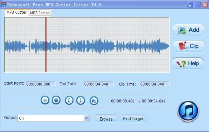 Скачать Eahoosoft Free MP3 Cutter Joiner программное обеспечение, Eahoosoft